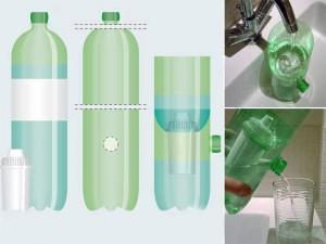 agua filtrada com jarro caseiro